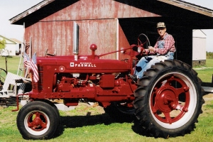 This is a pic of my grandpa's 1944 Farmall tractor he completely restored from a pile of rust to look brand new.